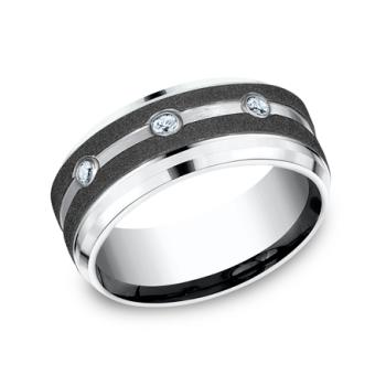 Cobalt Comfort-Fit Diamond Wedding Ring