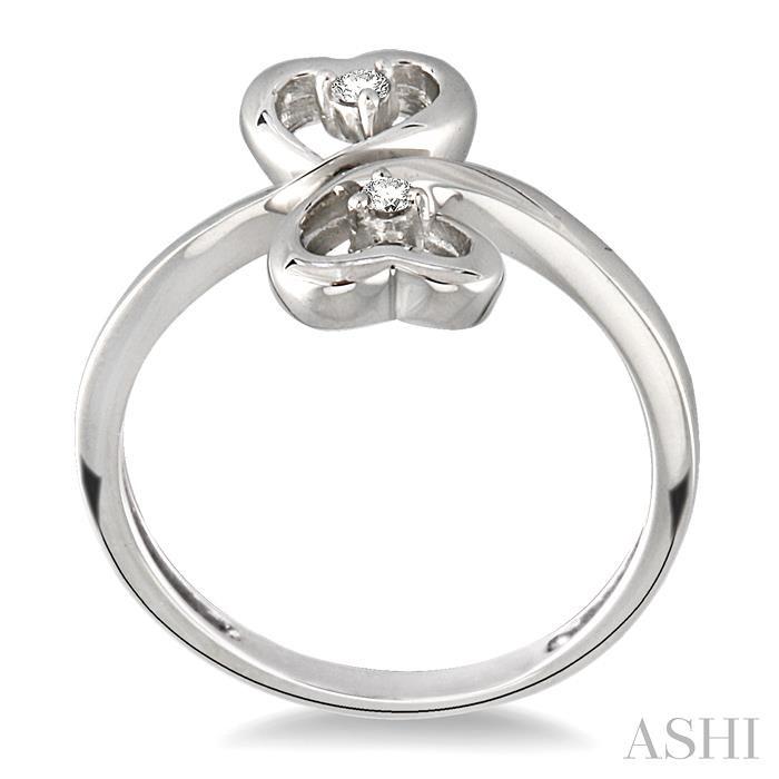 Twin Heart Shape 2Stone Diamond Ring