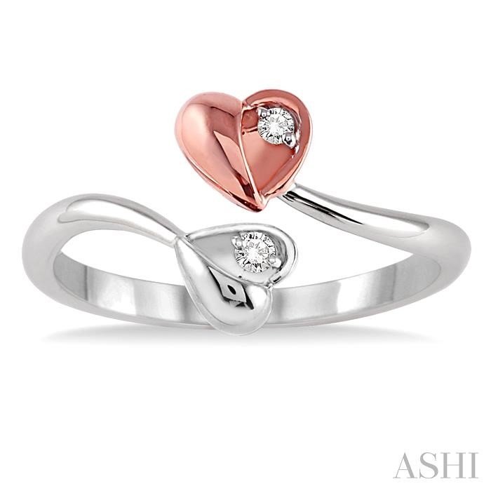 Twin Heart Shape 2Stone Diamond Ring