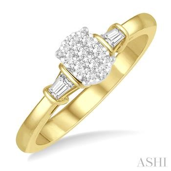 OVAL SHAPE LOVEBRIGHT DIAMOND ENGAGEMENT RING