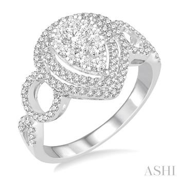 PEAR SHAPE LOVEBRIGHT DIAMOND RING