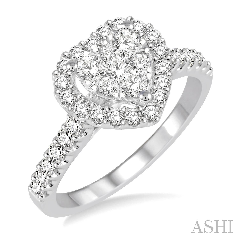 Heart Shape Lovebright Diamond Ring