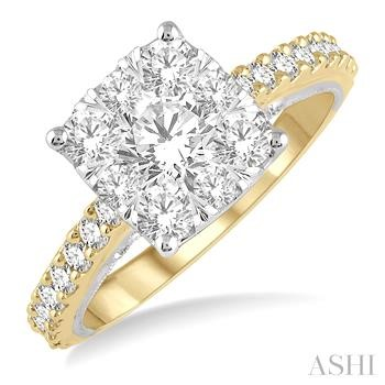 CUSHION SHAPE LOVEBRIGHT DIAMOND RING