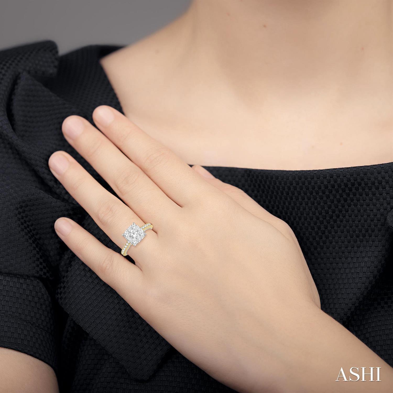 CUSHION SHAPE LOVEBRIGHT DIAMOND RING