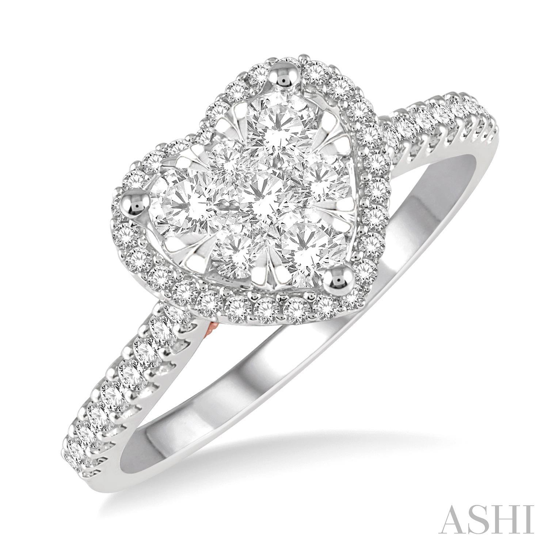 HEART LOVEBRIGHT DIAMOND RING
