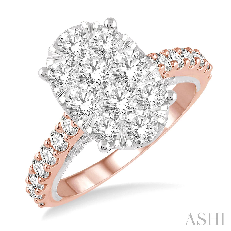 OVAL SHAPE LOVEBRIGHT DIAMOND RING