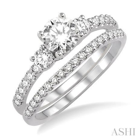 Past Present & Future Diamond Wedding Set