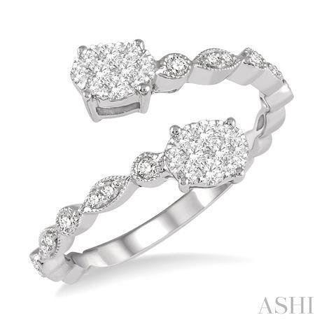 Oval Shape Lovebright 2Stone Diamond Ring