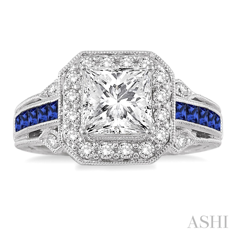 Gemstone & Diamond Semi-Mount Ring