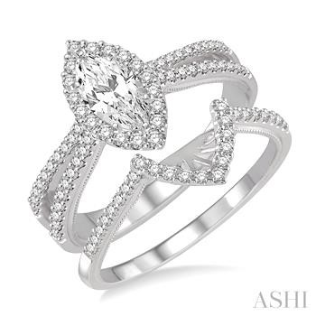 MARQUISE SHAPE DIAMOND WEDDING SET