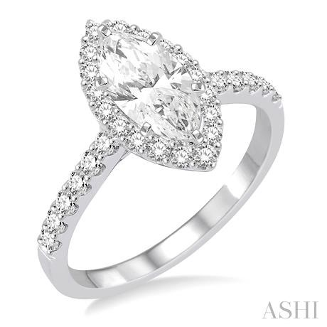 MARQUISE SEMI-MOUNT DIAMOND RING