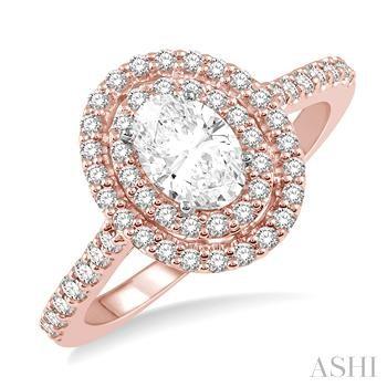 OVAL SHAPE SEMI-MOUNT DIAMOND RING