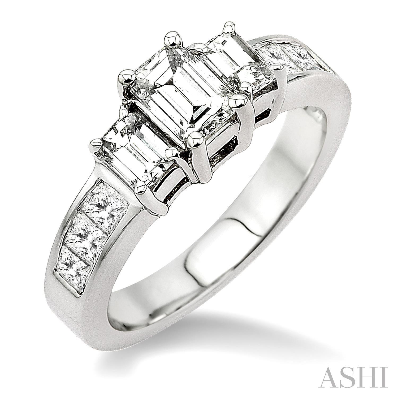PAST PRESENT & FUTURE DIAMOND ENGAGEMENT RING