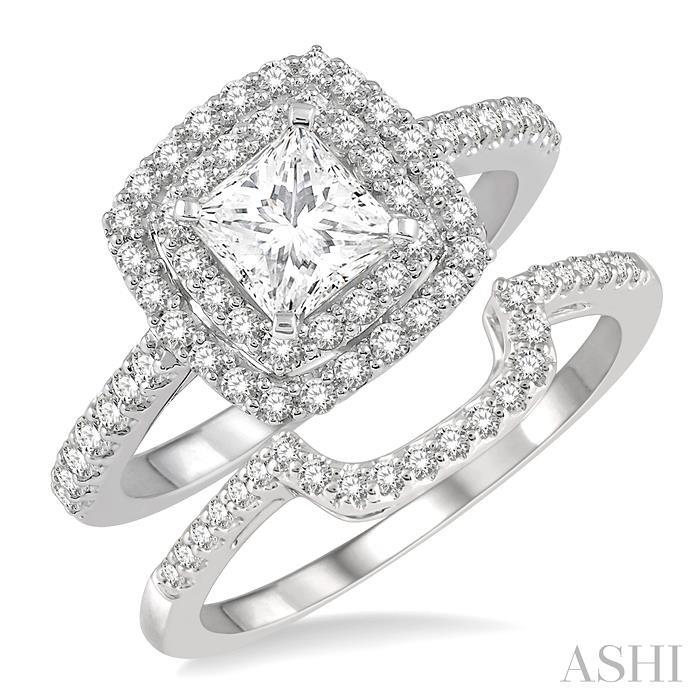PRINCESS SHAPE DIAMOND WEDDING SET