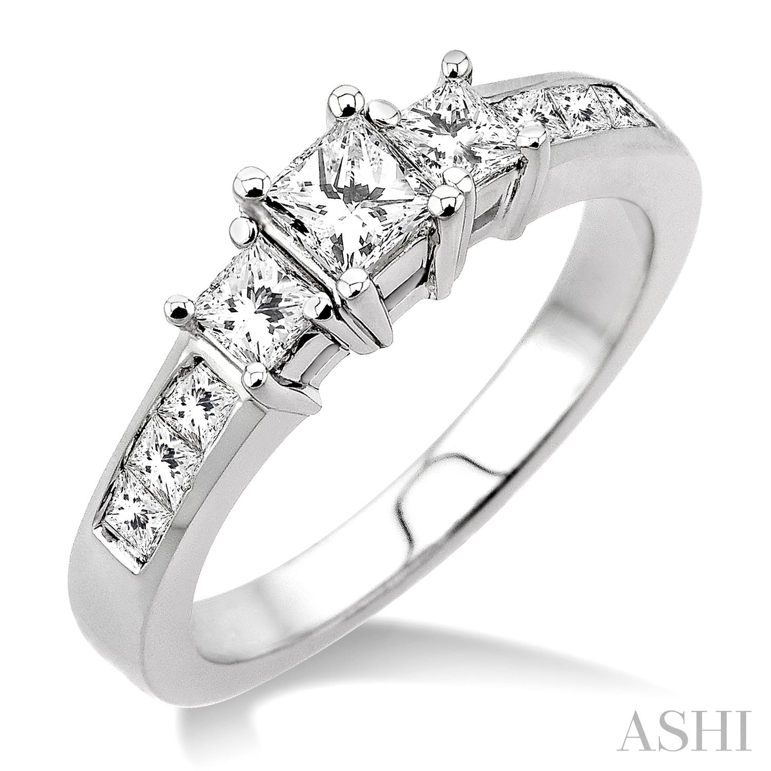 PAST PRESENT & FUTURE DIAMOND ENGAGEMENT RING