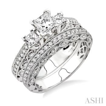 Past Present & Future Diamond Wedding Set