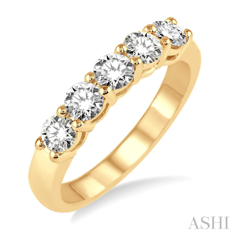 Five Stone Diamond Wedding Band