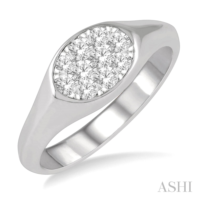 OVAL SHAPE LOVEBRIGHT ESSENTIAL DIAMOND PROMISE RING