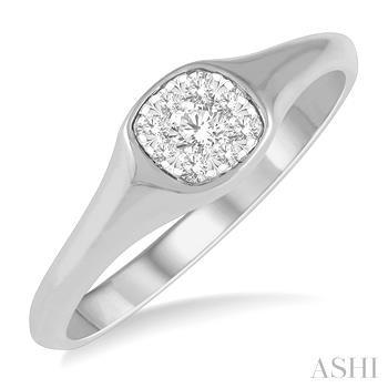 CUSHION SHAPE LOVEBRIGHT DIAMOND PROMISE RING