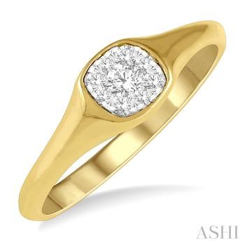 CUSHION SHAPE LOVEBRIGHT DIAMOND PROMISE RING