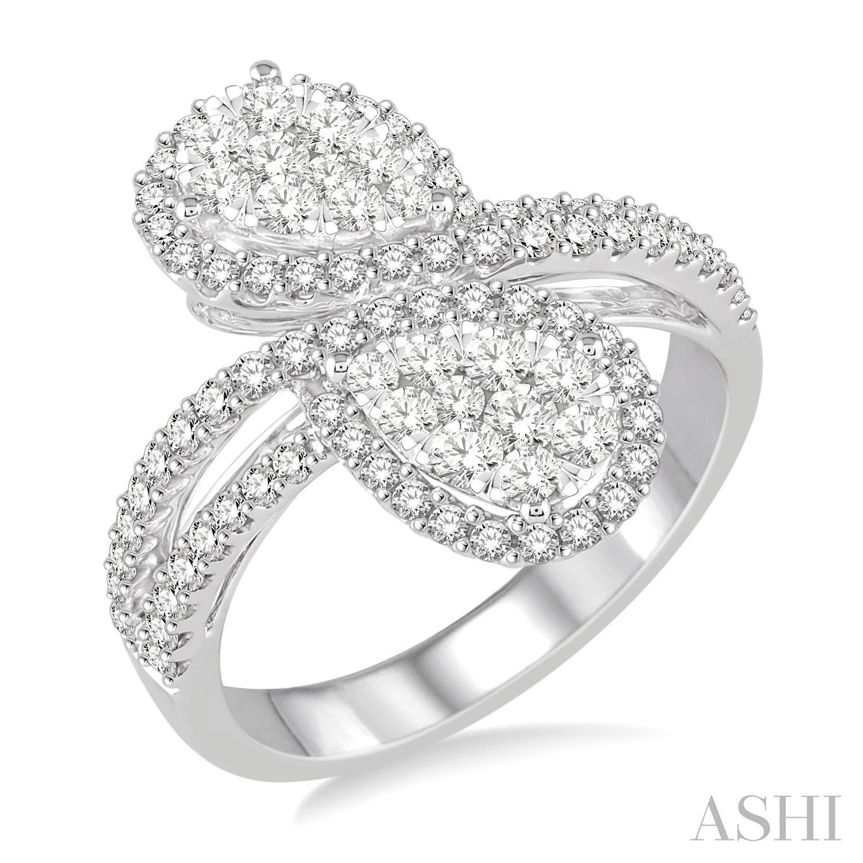 LOVEBRIGHT 2STONE PEAR SHAPE DIAMOND RING