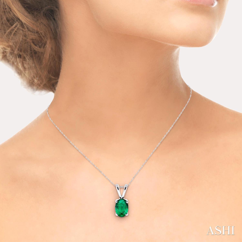 Oval Shape Stud Gemstone Pendant