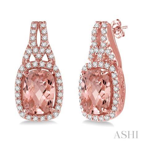 GEMSTONE & DIAMOND EARRINGS
