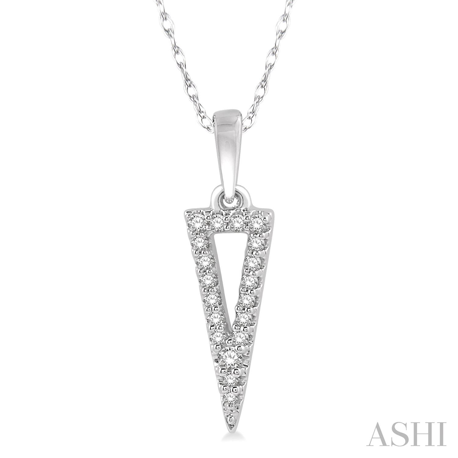 OPEN TRIANGLE DIAMOND PENDANT