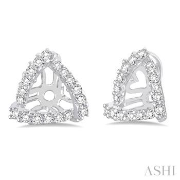 TRIANGLE SHAPE DIAMOND EARRINGS JACKET