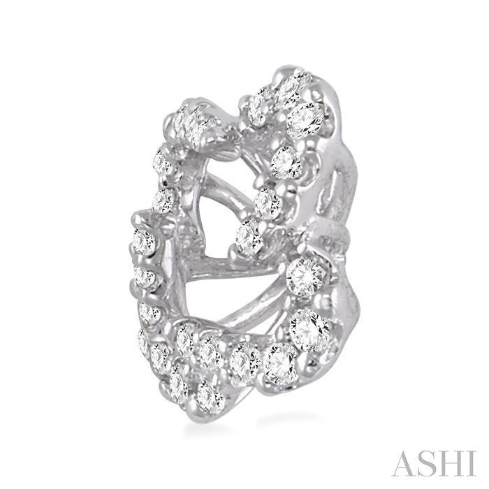 Flower Shape Diamond Earrings Jacket