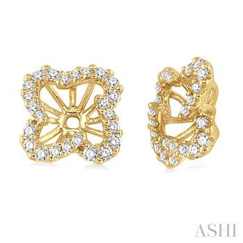 FLOWER SHAPE DIAMOND EARRINGS JACKET