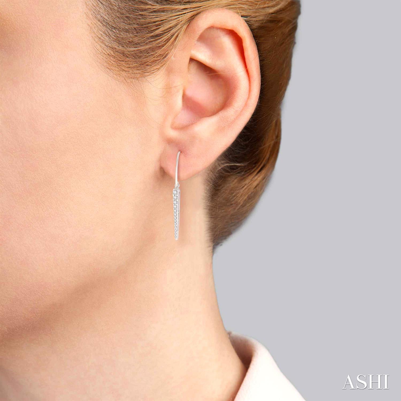SPIKE DIAMOND LONG EARRINGS