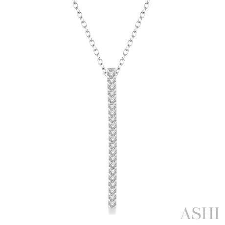 Vertical Bar Layered Diamond Pendant