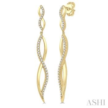 DIAMOND FASHION LONG EARRINGS