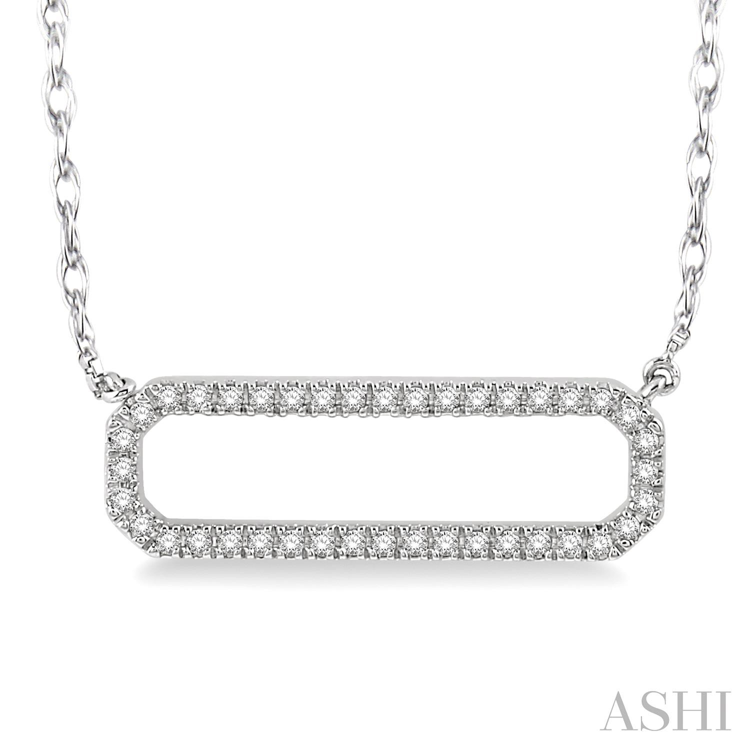 DIAMOND ROUNDED RECTANGLE NECKLACE
