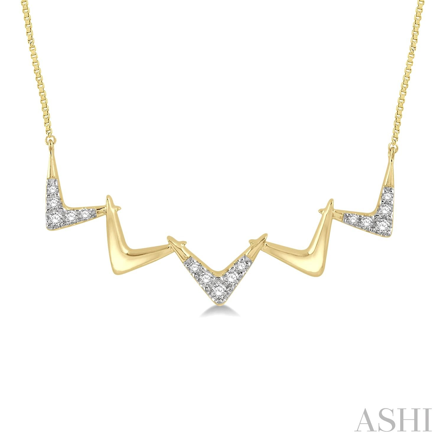 DIAMOND ZIGZAG NECKLACE