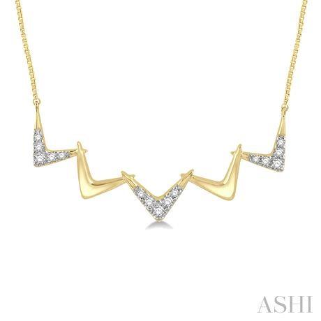 Diamond Zigzag Necklace