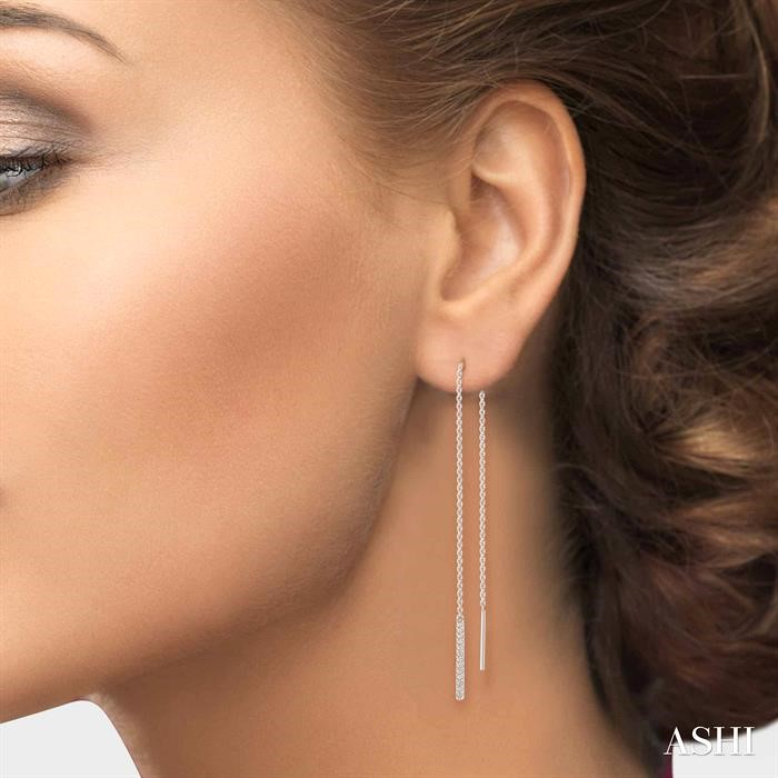 THREADER DIAMOND EARRINGS