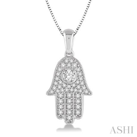 Diamond Hand Of God Pendant