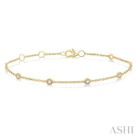 Rose Cut Diamond Chain Bracelet