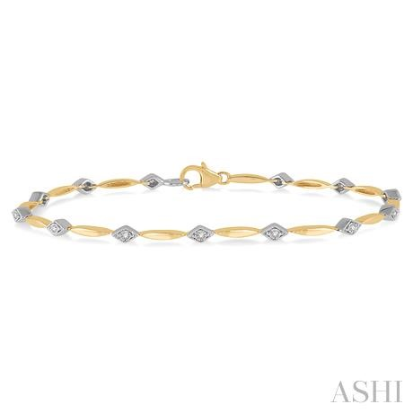 Diamond Illusion Plate Bracelet