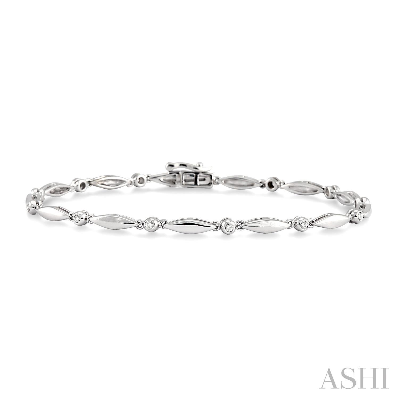 Boat Shape Diamond Bracelet