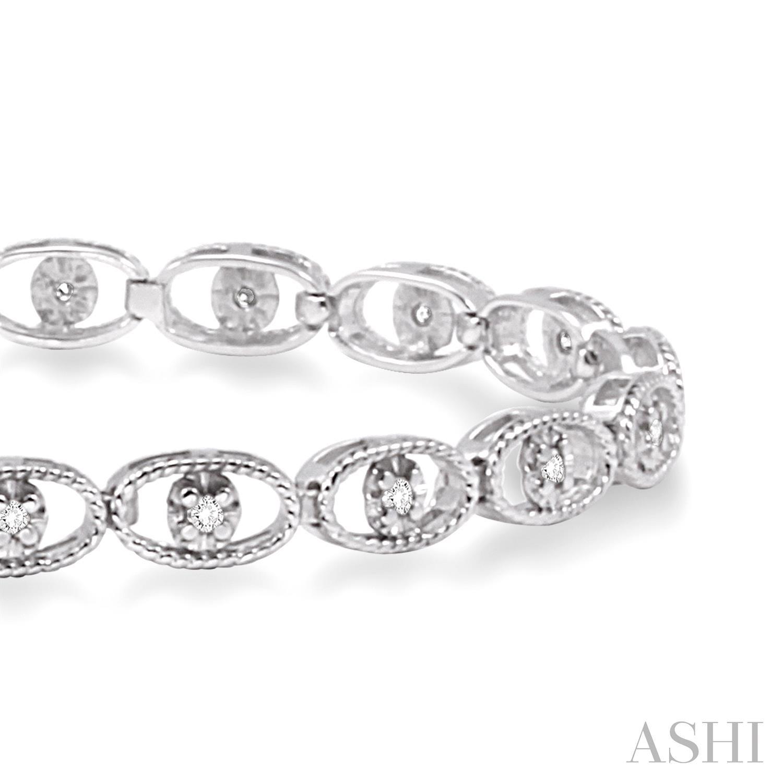 Oval Link Diamond Bracelet