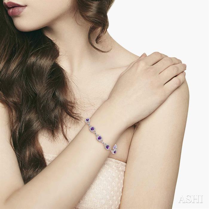 Gemstone & Diamond Bracelet