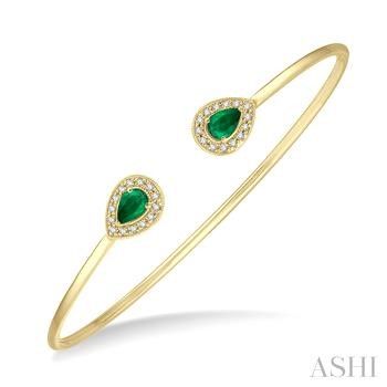 DIAMOND PEAR FLEXI BANGLE