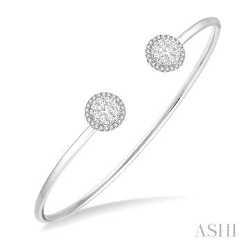 LOVEBRIGHT CUFF OPEN DIAMOND BANGLE