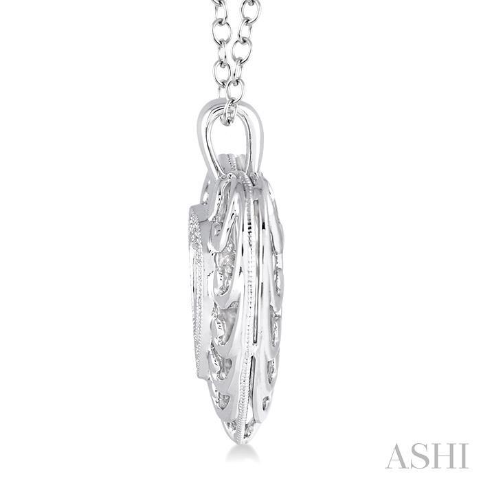 Silver Emotion Heart Shape Diamond Pendant