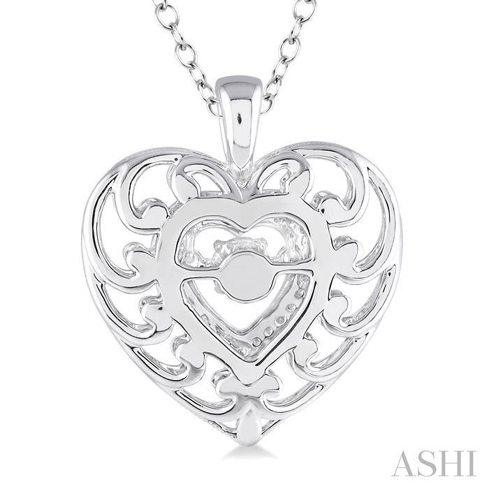 SILVER EMOTION HEART DIAMOND PENDANT