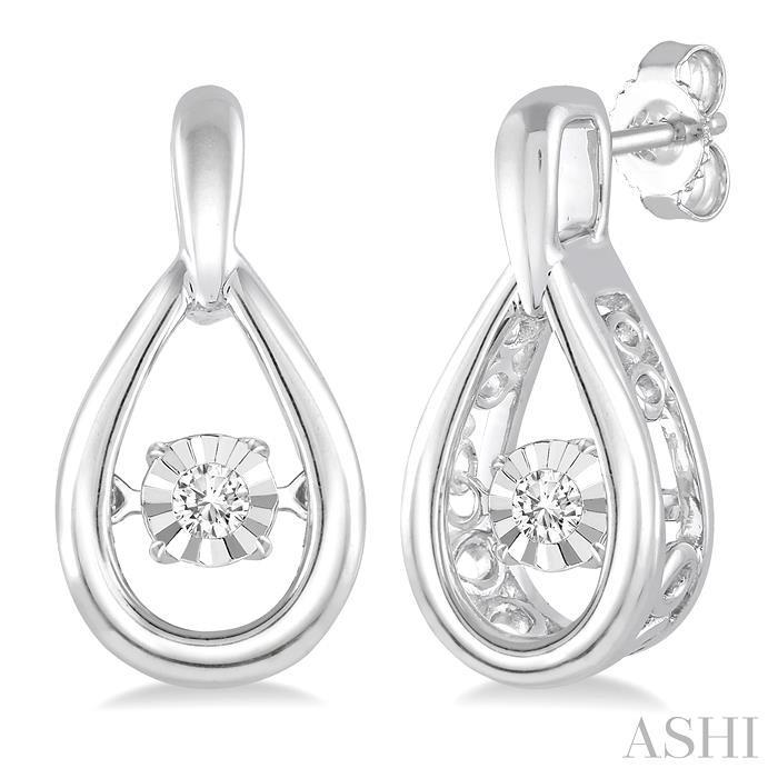 Silver Emotion Diamond Earrings