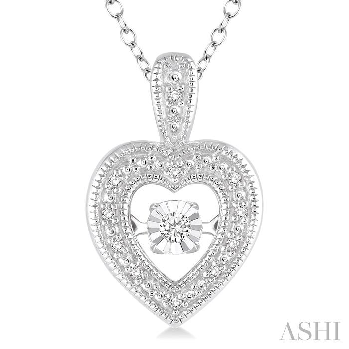 Silver Emotion Heart Shape Diamond Pendant